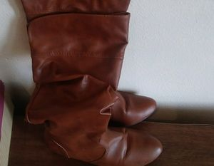 Women's Bamboo(brand) Boots Size/10 Color/Cognac *